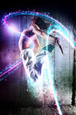 Young man dancer jumping — Stock Photo