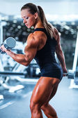 Kobieta bodybuilder — Zdjęcie stockowe
