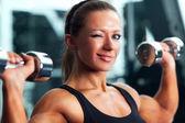 Vrouw bodybuilder — Stockfoto