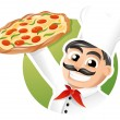 Pizza chef — Stock Vector #13510752