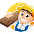 Stock Vector: Carpenter illustration