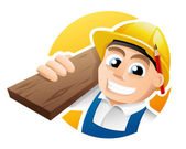 Carpenter illustration — Stock Vector