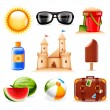 Summer and beach icons — Stock Vector #27752191