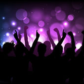 Crowd at a concert or in a club — Stock Vector