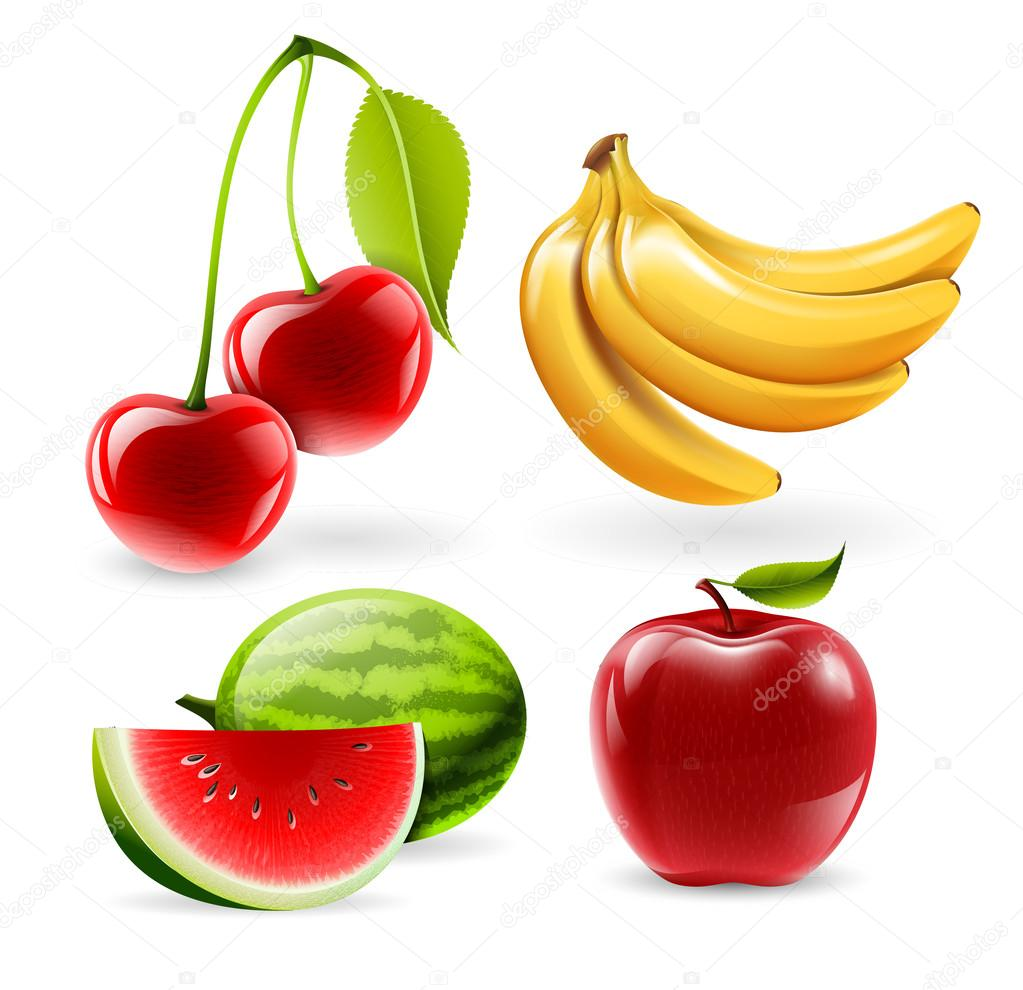 Fruit Salad Stock Vector Icons