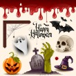 iconos Halloween vector — Vector de stock