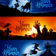 banderas de Halloween — Vector de stock  #31314791
