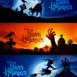 Halloween Banners — Stock Vector #31314791