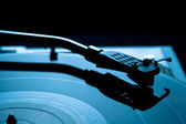 Vinyl record player Turntable tonearm cartridge with needle — Stock Photo