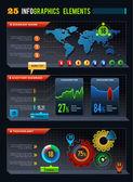 25 Infographics design elements — Stock Vector