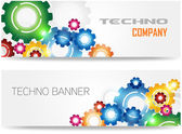 Technology Colorful Gears Banner — Stockvector