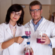 Royalty-Free Stock Photo: Scientists perform filtration test