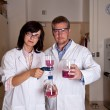 Scientists perform filtration test — Photo