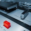 Analog Stereo Open Reel Tape Deck Recorder — Stock Photo