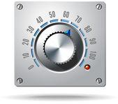 模拟控制电子调节器旋钮 — 图库矢量图片