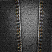 Black Jeans Denim Fabric Texture With Stitch — Stock Photo