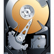 Hard disk drive HDD vector — Vector de stock