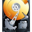 Stock Vector: Hard disk drive HDD vector