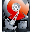 Hard disk drive HDD vector - Stockvektor