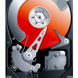 Hard disk drive HDD vector - Stockvectorbeeld