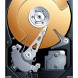 Hard disk drive HDD vector — Stockvektor