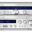 Analog Music Stereo Audio Amplifier and Tuner vintage rack — стоковый вектор #23167780