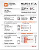 Kabel dienst telefoon bill document monster sjabloon vector — Stockvector