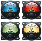 Electronic analog VU signal meter — Stock Photo
