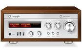 Vintage hi-fi analog stereo amplifikatör vektör — Stok Vektör