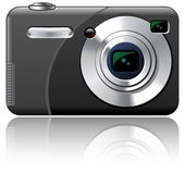 Point And Shoot Amateur Photo Camera — Stock Photo
