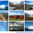 Terre-Neuve canada paysages collage carte postale — Photo #25191349