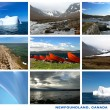 Newfoundland Canada Landscapes Collage Postcard — Stockfoto