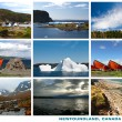 Newfoundland Canada Landscapes Collage Postcard — Foto de Stock