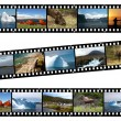 Newfoundland Canada Landscapes Collage Film — Foto Stock