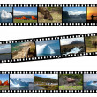 Newfoundland Canada Landscapes Collage Film — Foto de Stock