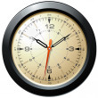 Stock Photo: Vintage Military Aviation Dash Board Clock