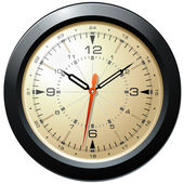 Vintage Military Aviation Dash Board Clock — Stock Photo
