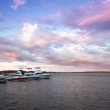 Dramatic dawn on St. Lawrence River, USA — Stock Photo