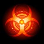 Red Glowing Biohazard Sign vector — Stock Vector #32724463
