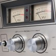 Stereo Cassette Tape Deck Analog controls Vintage — Stock Photo