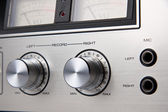 Stereo Cassette Tape Deck Analog controls Vintage — 图库照片