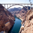 Stock Photo: Memorial Bridge Arc over Colorado River nearby Hoover Dam