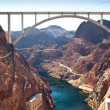 Memorial Bridge Arc over Colorado River nearby Hoover Dam — Stock Photo