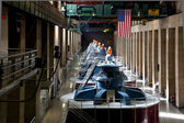 Hoover Dam Powerhouse Generators — ストック写真