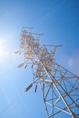 Heavy duty electric power pole — Stock Photo