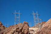 Heavy duty electric power poles — Stock Photo