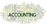 Accounting Word Cloud Green Bubble tags vector — Stock vektor