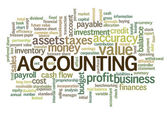 Accounting Word Cloud Word Bubble tags  — Vettoriale Stock