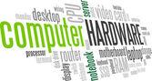 Computer Hardware Word Cloud Bubble Tag Tree Vector — Stock Vector