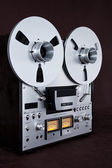 Analog Stereo Open Reel Tape Deck Recorder Vintage — Стоковое фото